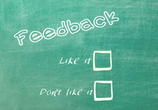 Gary Dumais giving feedback